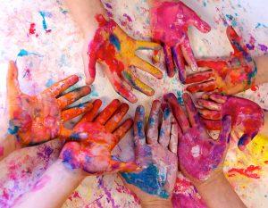 art - mani colorate bambini